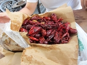 BOILED CRAWFISH, seasonal item, call for pricing